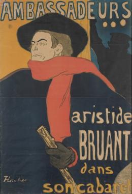 Henri de Loulouse-Lautrec, Ambassadeurs: Aristide Bruant, 1892, © Musée d'Ixelles-Bruxelles
