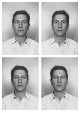 Alex Hanimann: Same But Different, 2019. Leuchtkasten, Aluminium eloxiert, LED, 73 x 133 cm x 10 cm: Galerie Skopia Genève, Hengesbach Gallery Wuppertal, Pro Litteris Zurich