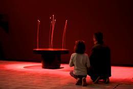 Witch Dance , 1965 (Rekonstruktion von 2016) Motorisierte Basis, Stahl, Schellen 165 × 110 × 110 cm © Courtesy Len Lye Foundation Collection, Govett-Brewster Art Gallery/Len Lye Centre