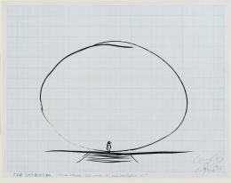 The Universe , 1966 Tusche auf Millimeterpapier, 44 × 56 cm © Courtesy Len Lye Foundation Collection, Govett-Brewster Art Gallery/Len Lye Centre