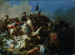 Die Schlacht von Schärding, um 1742, Öl auf Leinwand, Salzburg Museum (Sammlung Rossacher)  © Salzburg Museum