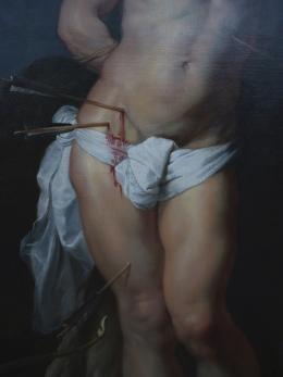 Matthias Herrmann: Peter Paul Rubens - Der heilige Sebastian, Detail. - Gemäldegalerie Berlin, Digitaler Print (Foto: zVg)