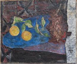 Stillleben mit Zitronen und Trauben - 1947 Öl auf Leinwand 38 x 46 cm © Galerie Welz