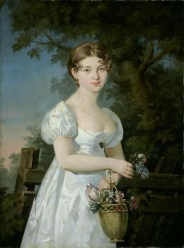 Porträt der Anna Maria Lergetporer, geborene Triendl, 1811, Öl auf Leinwand © Salzburg Museum