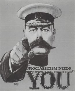 Ian Hamilton Finlay, Neoclassicism Needs You, 1983 Postkarte, Nachlassverwaltung Ian Hamilton Finlay