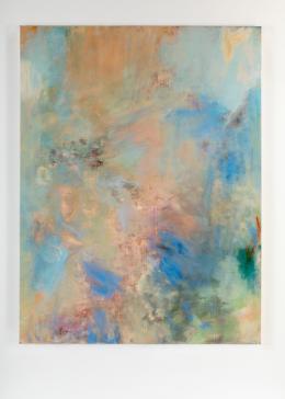 """""""Husk Sky Murmur Hole"""", 2020, Acryl, Pastell, Öl auf Leinwand, 197,5 × 150 cm. Courtesy of the artist and """"DREI"""", Köln."""