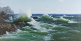 North Korea Collective, The Sea, 2008, Öl auf Leinwand, 150x 295 cm, Foto: Sigg Collection, Mauensee © The artist