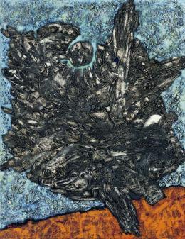 René Acht, Fabelwesen, 1958, Öl auf Leinwand, 130 x 100 cm, Kunstmuseum Singen, Foto: Bernhard Strauss, Freiburg, © VG Bild-Kunst, Bonn 2021