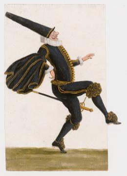 Burnacini, Springender Capitano, Wien, 17. Jhdt,  Theatermuseum © KHM-Museumsverband