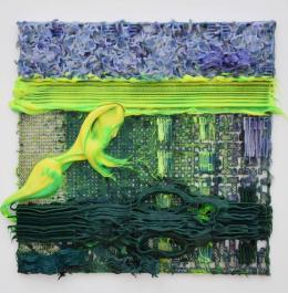 Fabian Marcaccio - Paintant, 3D-Druck Plastik, Alkyd-Malerei, Silikon