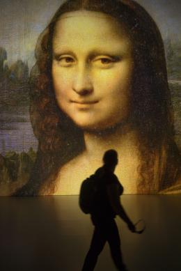 Mona Lisa at Deep Space 8K © Ars Electronica / Robert Bauernhansl