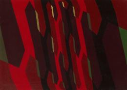 Hans Hinterreiter 1902–1989: Opus 106 , 1946. Temperafarben auf Hartfaserplatte, 58.5 x 82 cm; Kunst Museum Winterthur. Photo: SIK-ISEA, Philip Hitz, Zürich; © 2019, ProLitteris, Zurich