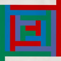 Richard Paul Lohse 1902–1988: Progression in Winkelgruppen, 1965. Ölfarben auf Leinwand, 120 x 120 cm; Kunst Museum Winterthur. Photo: SIK-ISEA, Philip Hitz, Zürich; © 2019, ProLitteris, Zurich