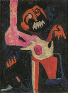 Colette Omogbai, Agony, c. 1963, IwalewahausDEVA, University of Bayreuth, © Colette Omogbai