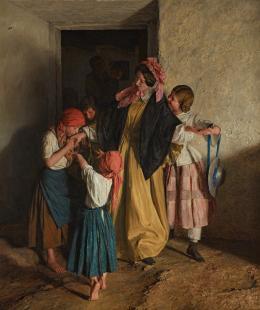 Ferdinand Georg Waldmüller, Der Abschied der Patin (Nach der Firmung), 1859 © Belvedere, Wien, Leihgabe des Vereins der Freunde der Österreichischen Galerie Belvedere