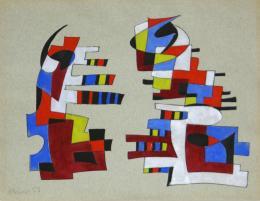 Ohne Titel - 1953 Tusche, Aquarell auf hellgrauem Bütten 24 x 31 cm © Galerie Welz