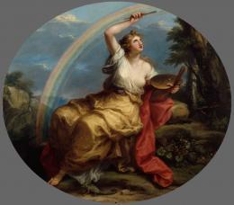Angelika Kauffmann, Farbe – Colouring, ab 1778/vor Mai 1780. Öl auf Leinwand, queroval, 130 x 149,5 cm;Royal Academy of Arts, London. © Royal Academy of Arts, London/ Foto: John Hammond
