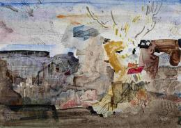 Spiel der Drachen, 1974, Acryl auf Karton, Salzburg Museum © Hanns und Werner Otte, Salzburg