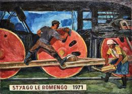 Rozana Kuburovič, Rom_nja-Flagge, 1971, Courtesy private Sammlung