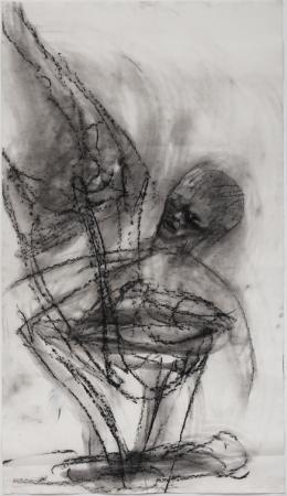 Martin Disler, Untitled, 1989, Kohle auf Papier, 140x79 cm, Sammlung Nicolas Schilling (c) The Estate of Martin Disler