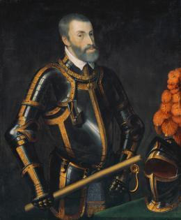 Kaiser Karl V. (1500–1558) nach Tizian, um 1548 Öl auf Leinwand Kunsthistorisches Museum Wien, Gemäldegalerie, Inv.-Nr. 8060 (Habsburger Porträtgalerie, Schloss Ambras Innsbruck) © KHM-Museumsverband