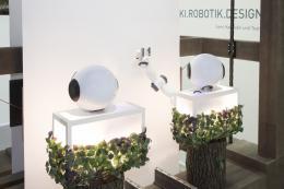 """Ausstellungsansicht """"KI.Robotik.Design"""". © Die Neue Sammlung - The Design Museum. Foto: Barbara Donaubauer"""