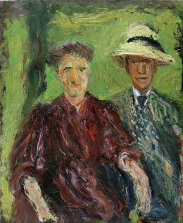 Paar im Grünen, 1908 © Leopold Museum, Wien, Inv. 645