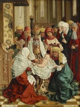 Meister von Mondsee, tätig um 1490-1500, Beschneidung Christi, um 1497  Foto: Johannes Stoll © Belvedere, Wien