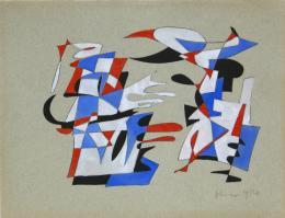 Ohne Titel - 1954 Tusche, Aquarell auf hellgrauem Bütten 24 x 31 cm © Galerie Welz