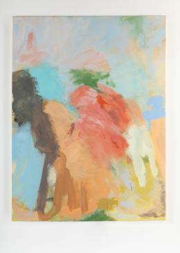 """""""Circling Nude"""", 2020, Acryl, Pastell, Öl auf Leinwand, 200 × 150 cm. Courtesy of the artist and """"DREI"""", Köln."""