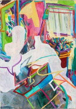 Gerlind Zeilner, Mopp, 2019 Öl auf Leinwand, 100 x 80 cm, Courtesy Linda Kada-Thiery