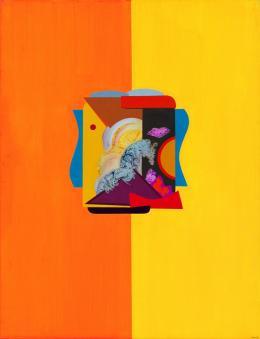 René Acht, Positivist, 1968, Öl auf Leinwand, 116 x 89,2 cm, Kunstmuseum Singen, Foto: Bernhard Strauss, Freiburg, © VG Bild-Kunst, Bonn 2021