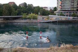 Flussschwimmen, Genf. Foto: Lucía de Mosteyrín Muñoz
