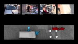 4 The Killing of Tahir Elci (video still). Forensic Architecture estimated Elçi's likely position at the moment he was shot, based on images of his body, and the official autopsy report Image: Forensic Architecture, 2019