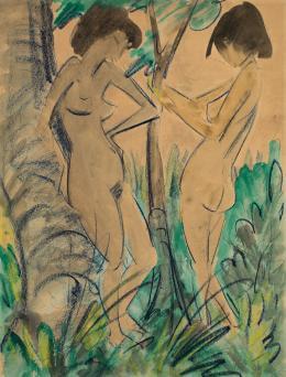 Otto Mueller, Zwei Akte im Walde, 1925 © Fondazione Gabriele e Anna Braglia, Lugano Foto: Roberto Pellegrini