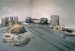 "Joseph Beuys, ""Honigpumpe am Arbeitsplatz"", 1974-1977  Installation, Mixed media, 46 Teile  Louisiana Museum of Modern Art / Dauerleihgabe, © Joseph Beuys Estate / VISDA [ÅR], © Bildrecht Wien"