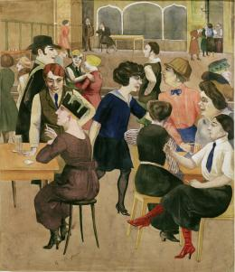 Rudolf Schlichter, Damenkneipe (Women's Club), c. 1925, Private collection © Viola Roehr v. Alvensleben, Munich. Photo: akg-images