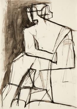 Josef Pillhofer, Sitzende nach links, Paris, 1950 © Concordia Privatstiftung Foto: Leopold Museum, Wien/Manfred Thumberger © Bildrecht Wien, 2021