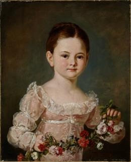 Porträt eines unbekannten Mädchens mit Blumengirlande, 1810–1815, Öl auf Leinwand © Salzburg Museum
