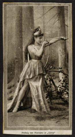 Hedwig von Haentjens als Diana in Sylvia, Choreografie: Carl Telle, Musik: Leo Delibes, 1891 Foto: Anonym Theatermuseum © KHM-Museumsverband