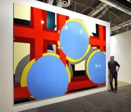 384G, 2008 Hochglanzlack auf Aluminium, 300 x 429 cm (3-teilig) © Markus Weggenmann