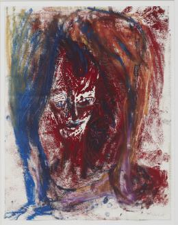 Martin Disler, Untitled, 1985, Couache und Pastel auf Papier, 63x43 cm, Sammlung Nicolas Schilling (c) The Estate of Martin Disler