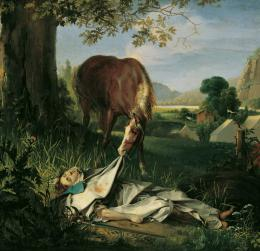 Josef Danhauser, Wallsteins Grab,1828  © Belvedere, Wien