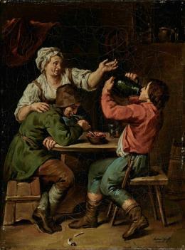 Wirtshausszene I, 1804, Öl auf Leinwand © Salzburg Museum