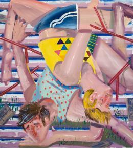 Ákos Ezer, Accident III, 2017 Öl auf Leinwand, 135 x 146 cm
