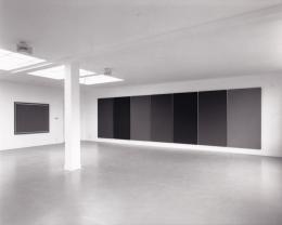 """Alan Charlton, Ausstellungsansicht, Sammlung Becht in der """"Fabriek"""", Amsterdam 1981 Courtesy des Künstlers"""