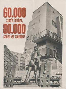 Plakat der SDAP für den Wahlkampf 1932  [Entwurf: Siegfried Weyr] © VGA