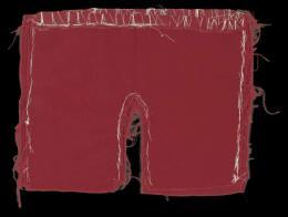 August Walla, Badehosenmodel, Stoff, Zwirn, undatiert © Art Brut KG