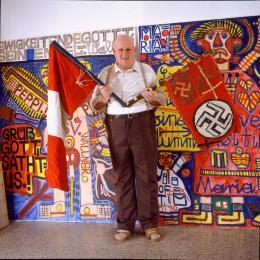 Walla mit Fahnen, 1988 (c) Johann Feilacher.