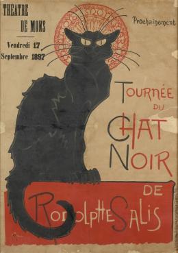 Steinlen, Théophile-Alexandre, Tournée du Chat noir, 1896; © Musée d'Ixelles-Bruxelles